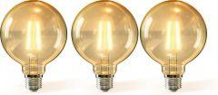 LED FIlament G125 E27 8W 2200k amber