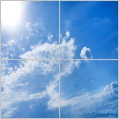 Wolkenplafond zonnig 60x60